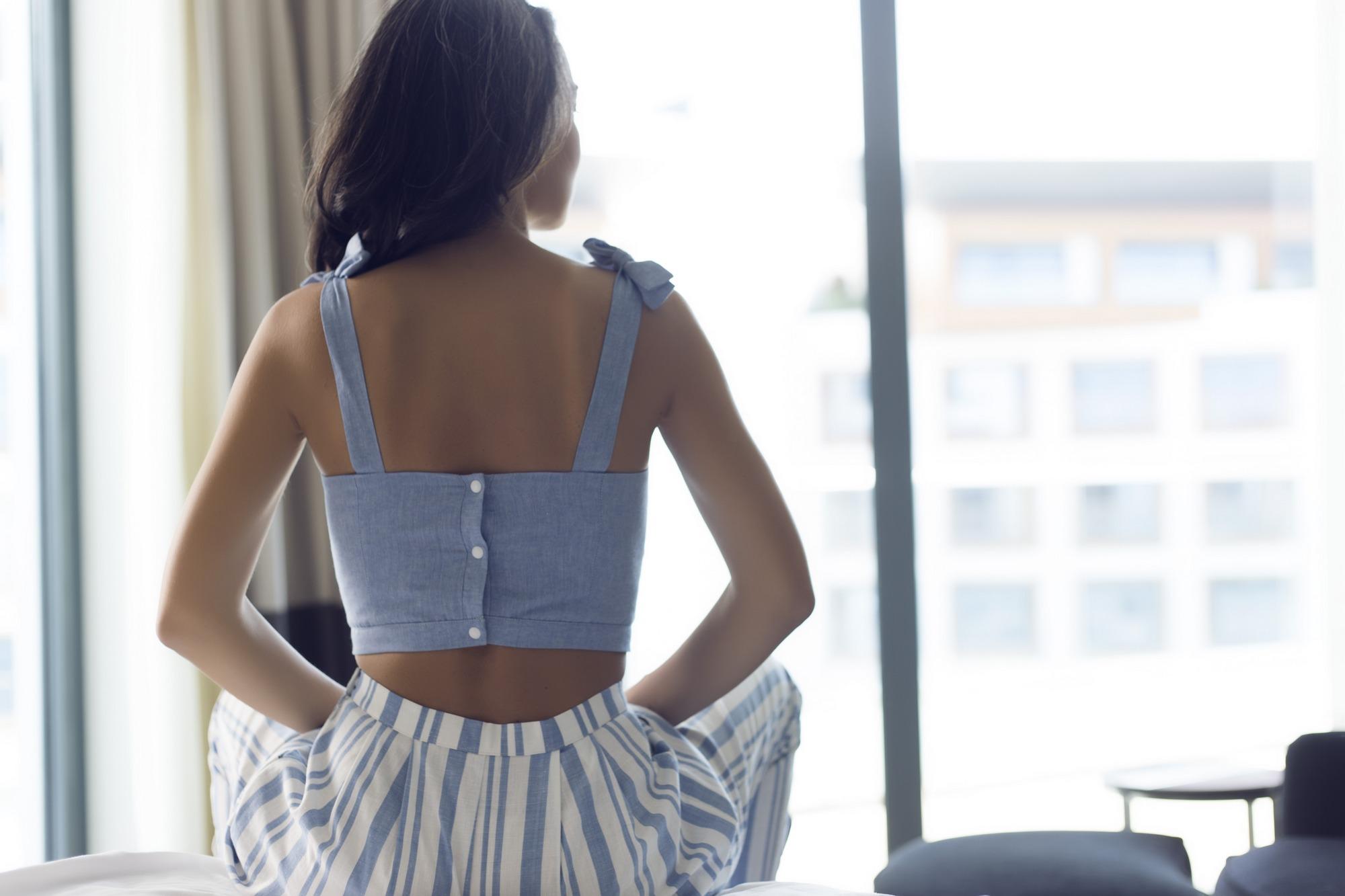 poplin homewear sırt detay