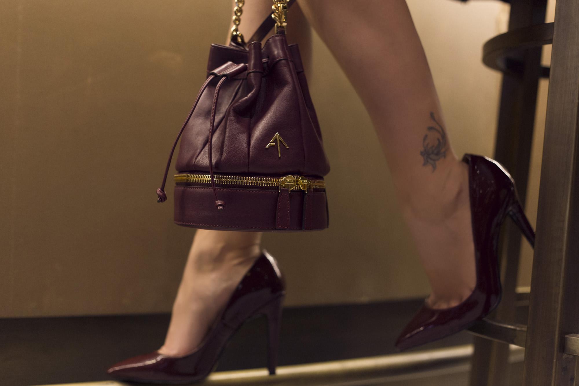 bordo ayakkabı çanta