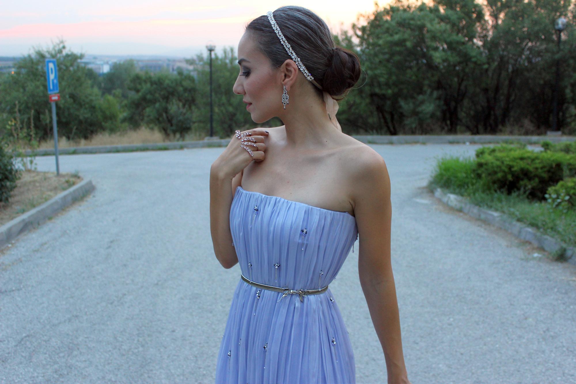 gamze saraçoğlu eflatun lila gece elbisesi