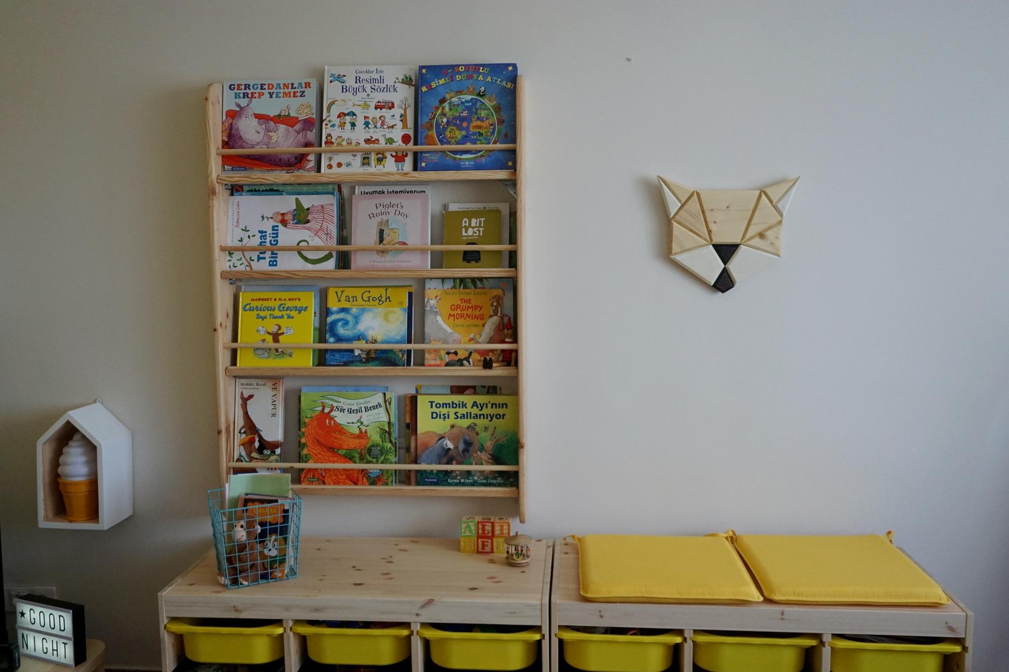 çocuk odası kitaplık tahtamanya