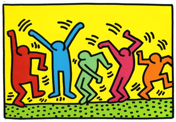 04 Bir Keith Haring çizimi