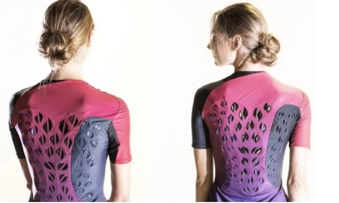 MIT Biologic tarafından üretilen bu spor giyim kıyafetleri vücudu soğutmak üzere nefes alan canlı bakteriler içeriyor