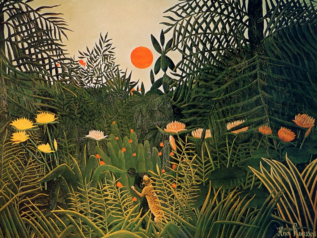 07 Henri Rousseau-Jaguar Attacking A Negro