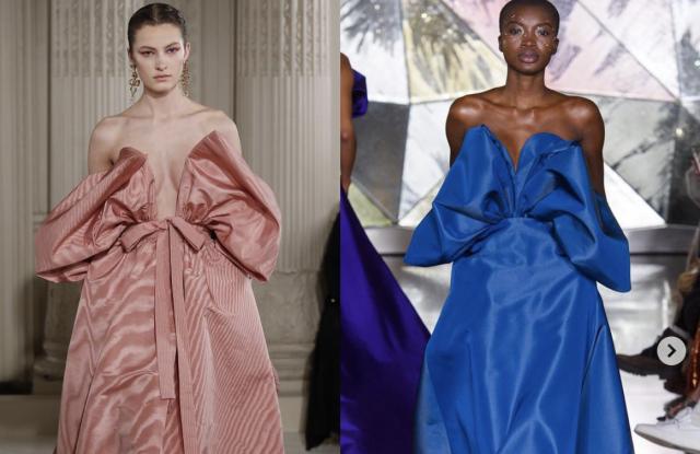 06 Diet Prada'nın Christian Siriano'yu son koleksiyonundan iki gece elbisesini Valentino'dan kopyaladığı iddiası sonrası elbiseler koleksiyondan çıkarıldı