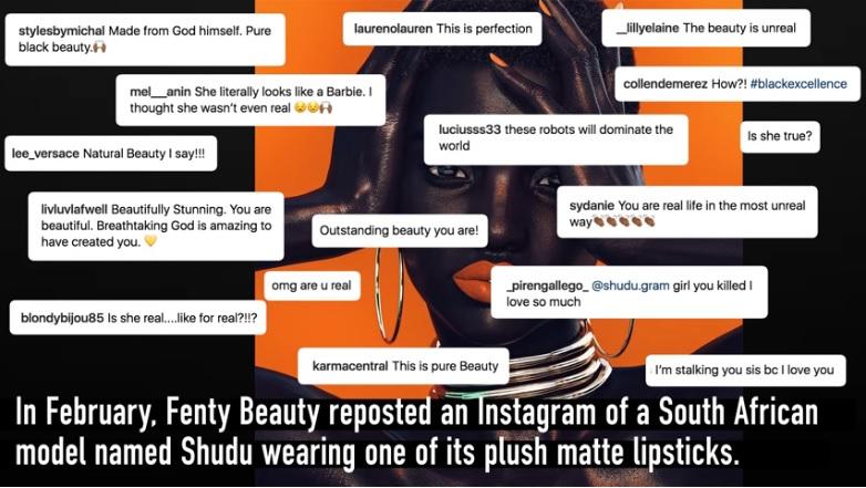 08 Shudu bir model ajansına bağlı sanal model